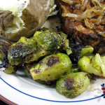 grilled mustard brussels sprouts