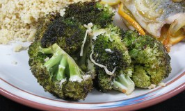 Grilled Lemon and Parmesan Broccoli