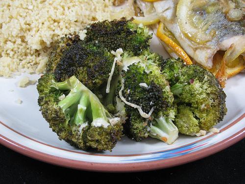 Grilled Lemon and Parmesan Broccoli