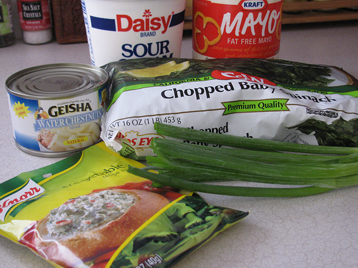 Easy Chilled Spinach Dip