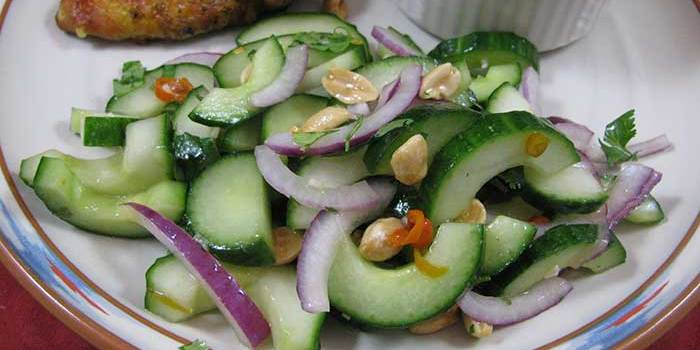 Ridiculously Tasty Thai Cucumber Salad with Peanuts