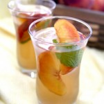 Peach and Ginger Iced Green Tea
