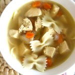 Chicken Noodle Soup (With Homemade Chicken Stock)