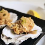 Oyster Tempura with Yuzu Honey Dijon Mustard Sauce