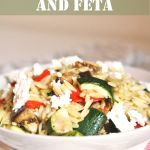 Meatless Monday: Orzo with Roasted Vegetables and Feta