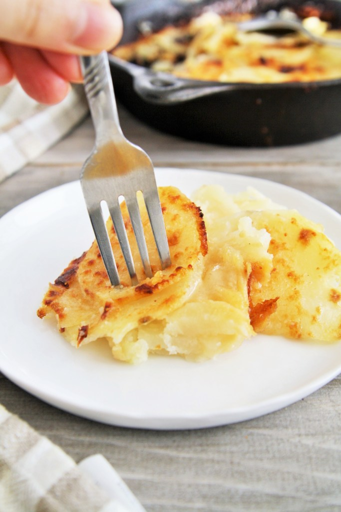 Three Cheese Potato Gratin