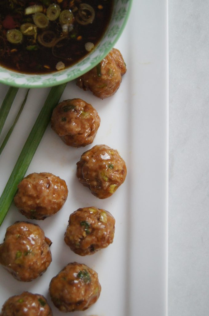 Ginger Scallion Pork Meatballs