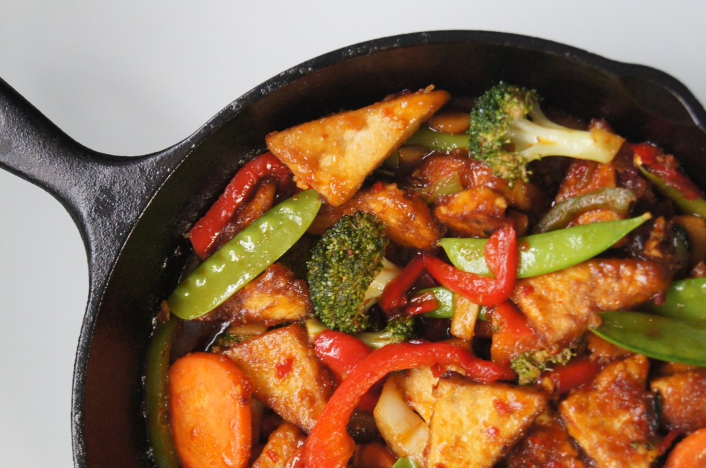 Sweet and Spicy Stir-Fry Sauce with Tofu