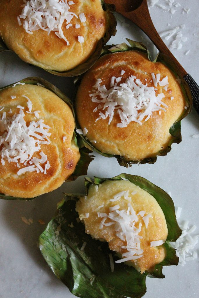 Bibingka - Filipino Coconut Rice Cakes