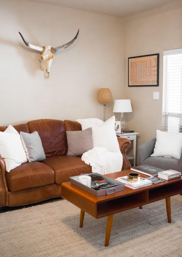 Cow Skull Living Room