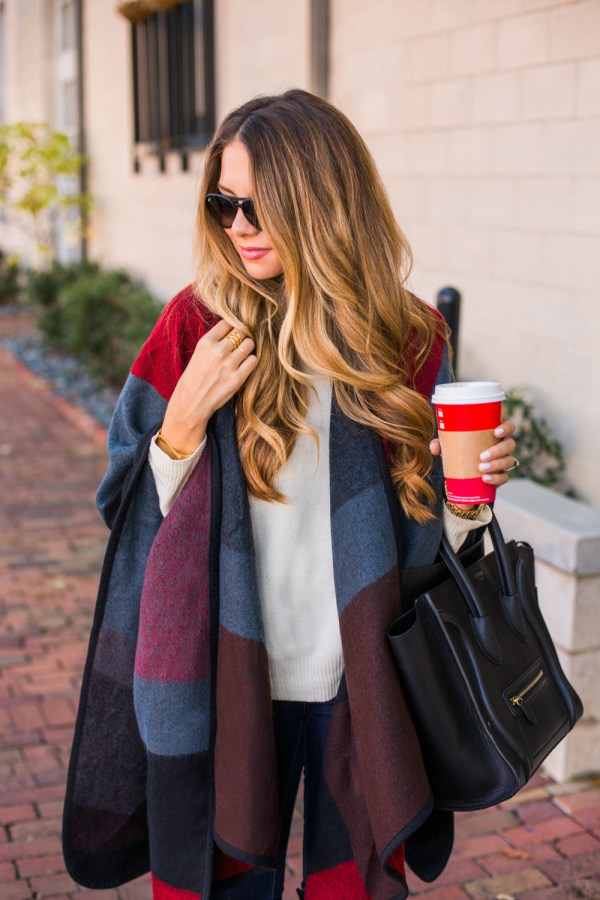 red and gray cape