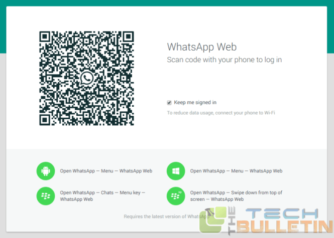 WhatsApp web browser