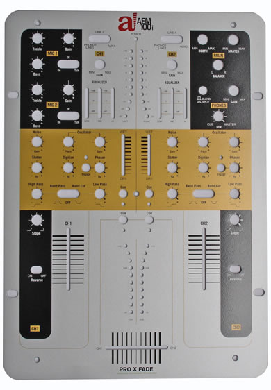 Audio Innovate AEM 100i scratch mixer at the BPM DJ show reviewed by MC Rebbe The Rapping Rabbi in The Technofile
