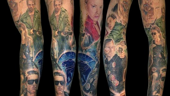 Terminator Sleeve Tattoo