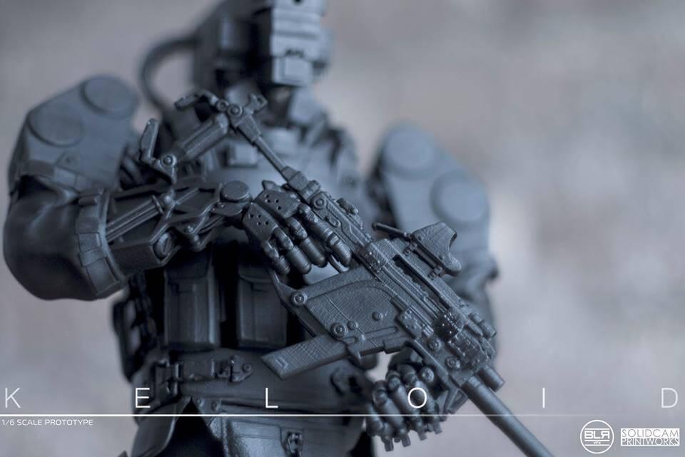 SolidCam Estudio VFX big lazy robot Keloid close up