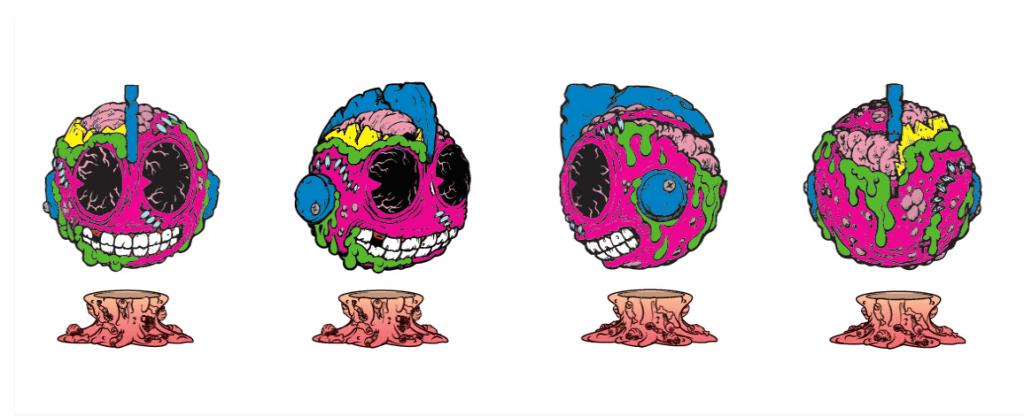 Madballs Medium Vinyl – Bot Head x Kidrobot artwork