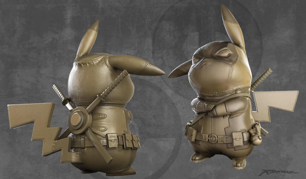 pikapool-ralph-andres-art-of-ramtraz-pikachu-deadpool-valor-props-gold