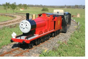 James the Red Engine.Our James was built in 1999 and was overhauled and repainted in early 2013