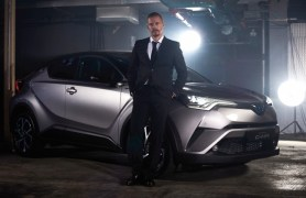 LONDON, ENGLAND - FEBRUARY 02: French rally driver Guerlain Chicherit, who led guests in an exhilarating drive around a giant projected roulette table, showcasing the new Toyota C-HR's driving dynamics, fluid motion and controlled responses on February 2, 2017 in London, England. 'The Night that Flows', is the world's first drive through immersive theatre experience. (Photo by Gareth Cattermole/Getty Images for Toyota) *** Local Caption *** Guerlain Chicherit