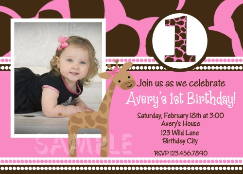 Medium Of First Birthday Invitations