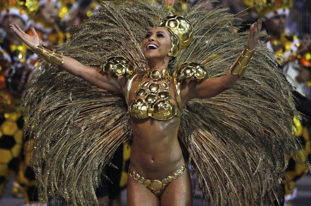 Carnival is celebrated in more than 400 towns and villages, but the festivities in Sao Paulo and Rio are famous for their scale (Photo Credit: Daily Mirror)