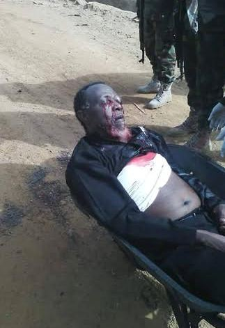 Sheikh Ibraheem Zakzaky shot and dumped in a wheel barrow after Nigerian troops invaded him home and killed his son and wife and hundreds of his followers | Facebook