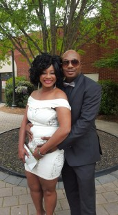 Nollywood actress, Clarion Chukwurah and her third husband, Anthony Boyd.