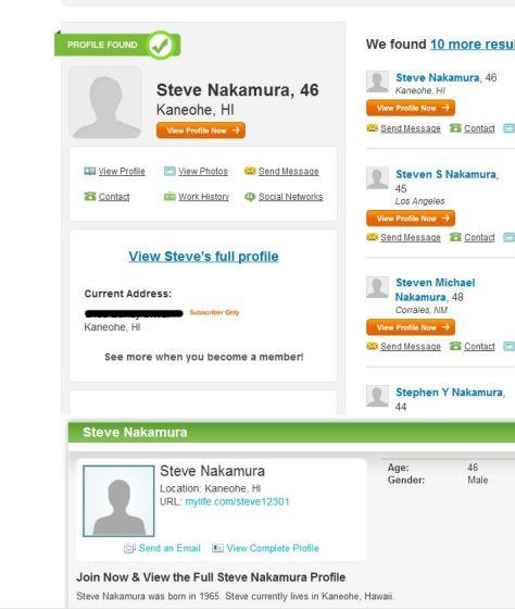 Steve12301 is Steve Nakamura