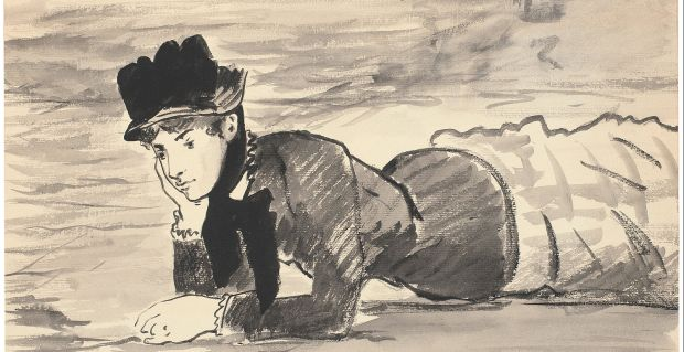 Édouard_Manet_-_Woman_Lying_on_the_Beach._Annabel_Lee_-_Google_Art_Project