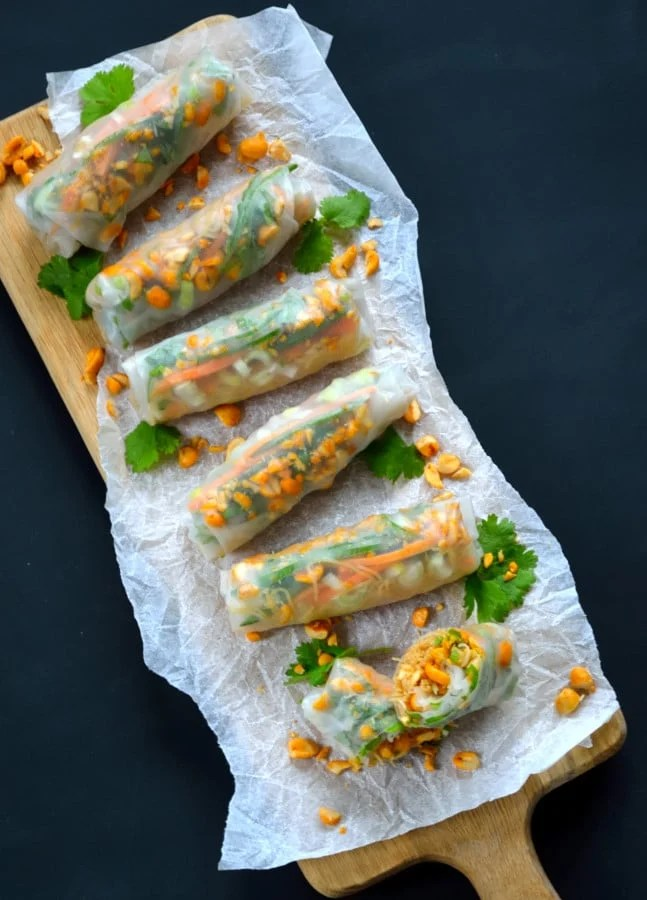 Chilli Peanut Vietnamese Rolls | The Veg Space blog