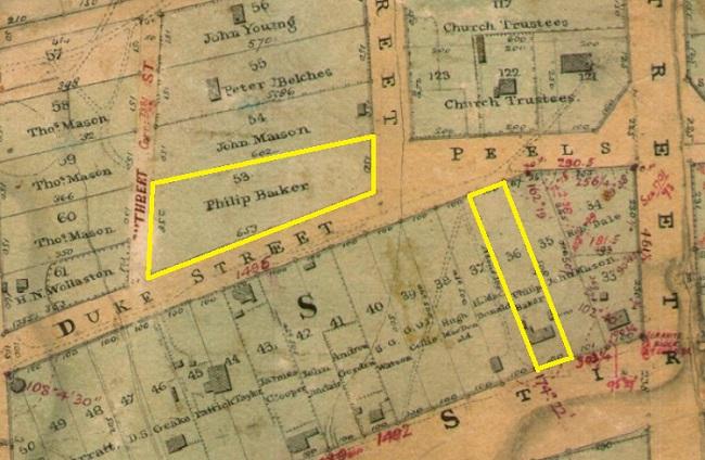 Baker lots - Chauncy Map 1831