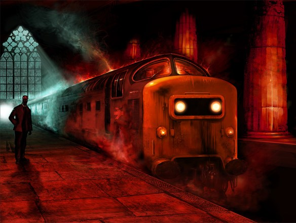 Final Train by Jason Heeley on deviantART ghost death spectre reaper spooky eerie platform station