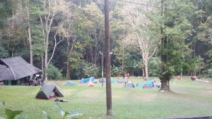 Campsite before the Monthathap Waterfall