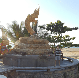 Naga Statue on Karon Beach, on the way to Promthep Cape
