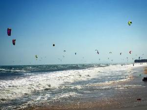 Amazing view of Kite Surfers at Mui Ne's beautiful beaches