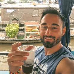 Coffee at the Floating Market at the Mekong Delta