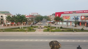 The view from Quang Binh Gate in Đồng Hới, situated at the intersection where Square Coffee lies