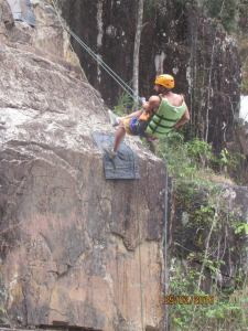 The first decent was an easy climb down an almost vertical rock face in Dalat