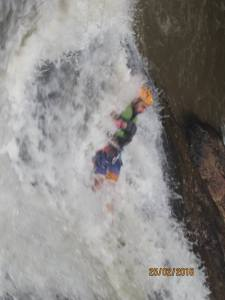 You then got dropped head first down a smooth waterfall into a deep pool in Dalat