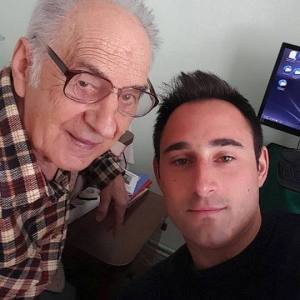 My grandpa in Romania, great to see him again!
