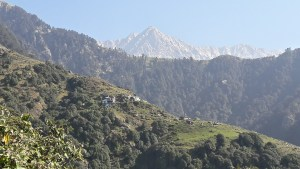 View of Triund at the top of Dharamkot in Dharamsala