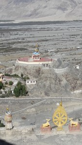 View of the giant Buddha statue from the Disket Monastery. Quite a sight in the vast desert!
