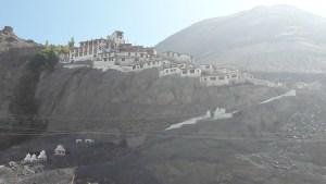 The Disket Monastery in Ladakh, snaking up the edge of the cliff, overlooking the giant Buddha and valley below. So majestic. When you want to speak to the Gods, hike up and earn it!