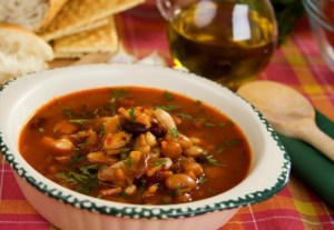 Cirobă with beans and smoked meat