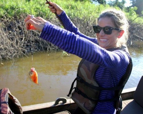 Piranha Fishing on Aqua Expeditions Amazon River Cruise