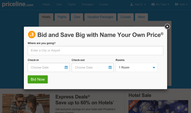 Priceline 'Name Your Own Price'