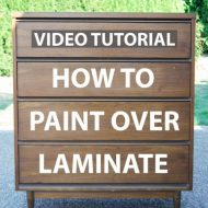 Video: How to Paint over Laminate and Plastic