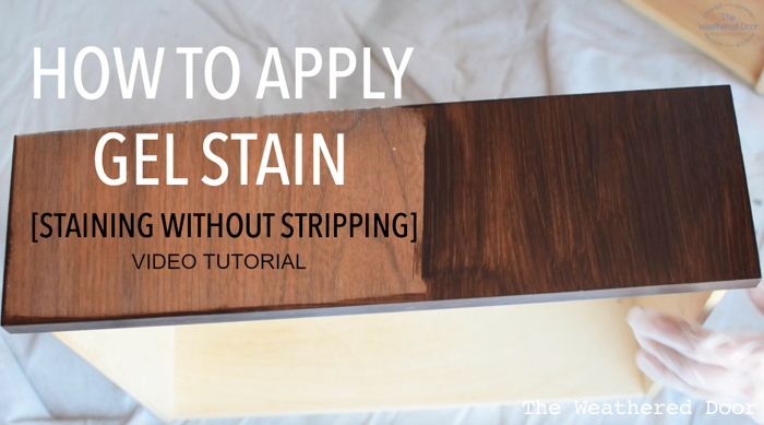 gel stain video tutorial staining without stripping the weathered door. Black Bedroom Furniture Sets. Home Design Ideas