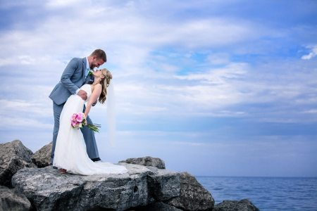Megan & Eric's Beach Wedding at The Lakeview |Photo: Have Heart Photography