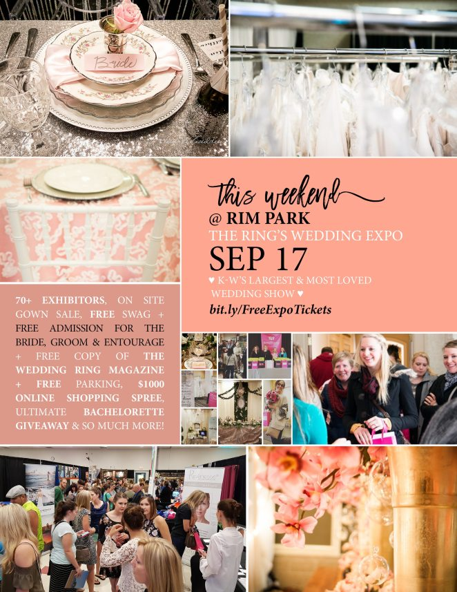 The Ring's KW Wedding Expo September 17 at RIM Park Poster